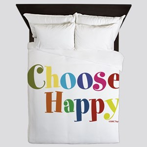 Choose Happy 01 Queen Duvet