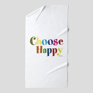 Choose Happy 01 Beach Towel