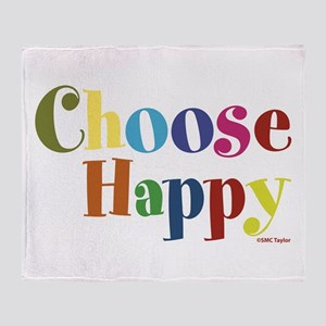 Choose Happy 01 Throw Blanket