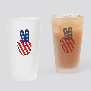 Peace USA Flag-01 Drinking Glass