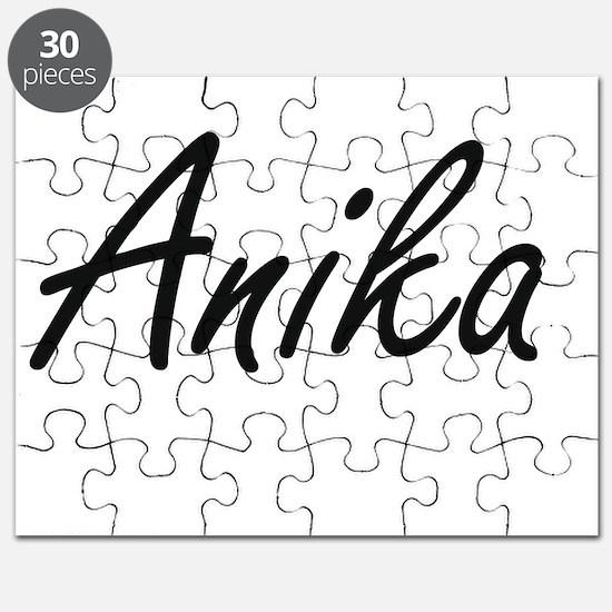 Anika artistic Name Design Puzzle