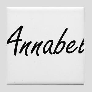 Annabel artistic Name Design Tile Coaster