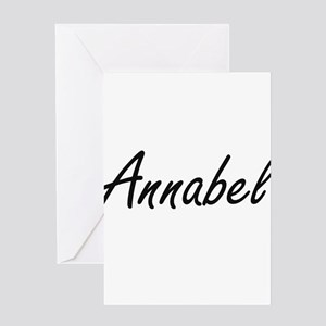 Annabel artistic Name Design Greeting Cards