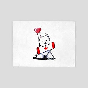 Canadian KiniArt Westie Fan 5'x7'Area Rug