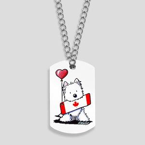 Canadian KiniArt Westie Fan Dog Tags
