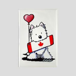 Canadian KiniArt Westie Fan Rectangle Magnet