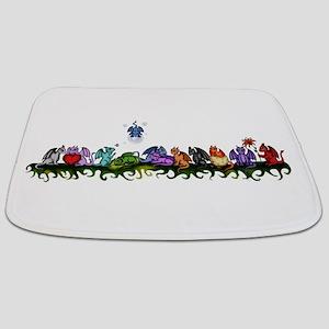 many cute Dragons Bathmat