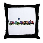 many cute Dragons Throw Pillow
