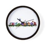 many cute Dragons Wall Clock