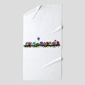 many cute Dragons Beach Towel
