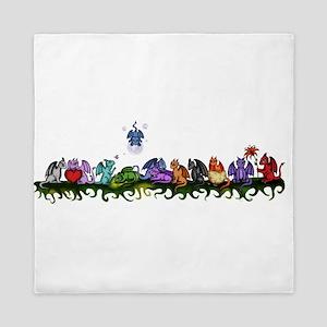 many cute Dragons Queen Duvet