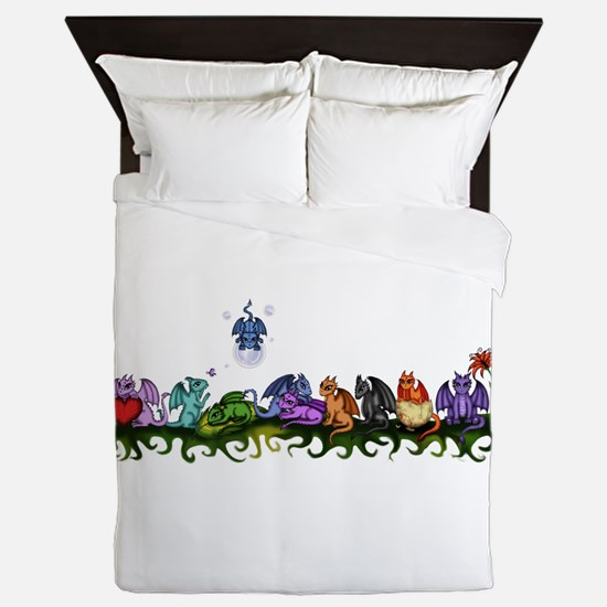 many cute Dragons Queen Duvet