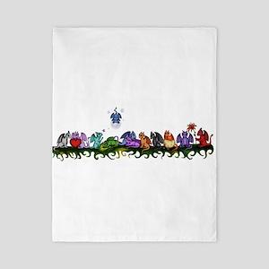 many cute Dragons Twin Duvet