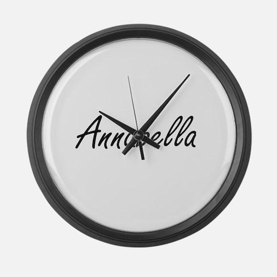 Annabella artistic Name Design Large Wall Clock