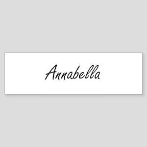 Annabella artistic Name Design Bumper Sticker