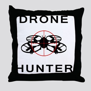 Drone Hunter Black Throw Pillow