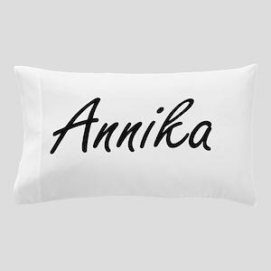 Annika artistic Name Design Pillow Case
