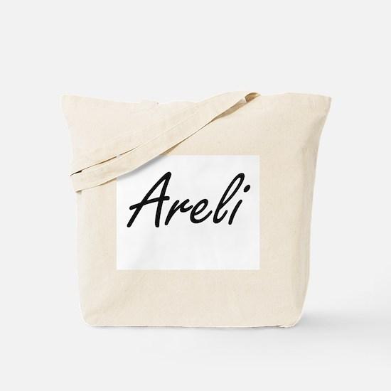 Areli artistic Name Design Tote Bag