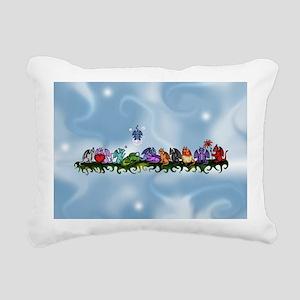 many cute Dragons Sky Rectangular Canvas Pillow