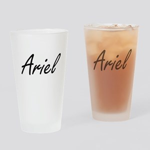 Ariel artistic Name Design Drinking Glass