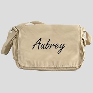 Aubrey artistic Name Design Messenger Bag