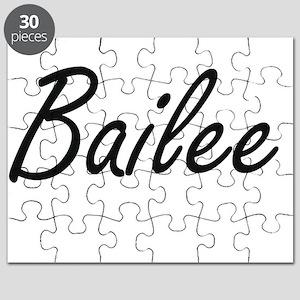 Bailee artistic Name Design Puzzle