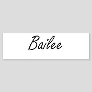 Bailee artistic Name Design Bumper Sticker