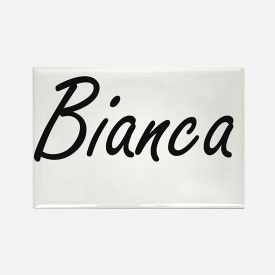 Bianca artistic Name Design Magnets