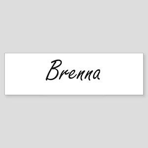 Brenna artistic Name Design Bumper Sticker