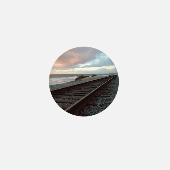 Train Track into Sunset Mini Button
