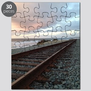 Train Track into Sunset Puzzle