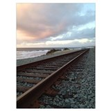 Train at sunset Wrapped Canvas Art