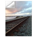 Train at sunset Wall Decals