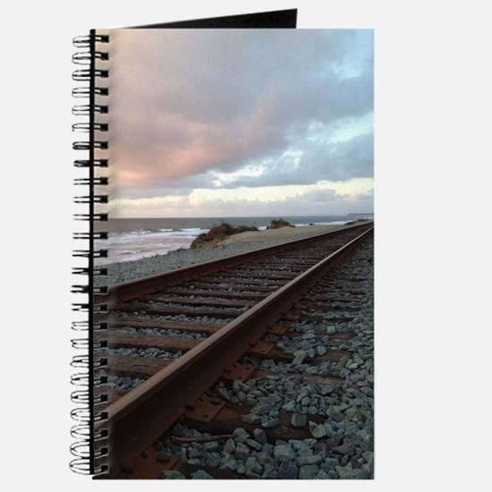 Train Track into Sunset Journal