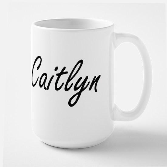 Caitlyn artistic Name Design Mugs