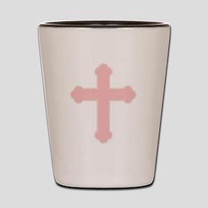 Pink Christian Cross Shot Glass