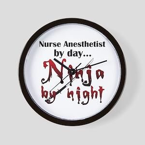 Nurse Anesthetist Ninja Wall Clock