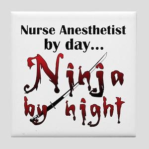Nurse Anesthetist Ninja Tile Coaster
