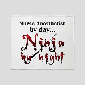 Nurse Anesthetist Ninja Throw Blanket