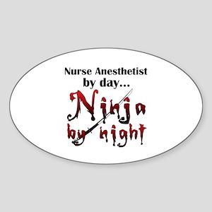 Nurse Anesthetist Ninja Sticker
