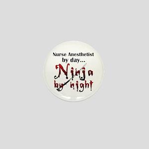 Nurse Anesthetist Ninja Mini Button