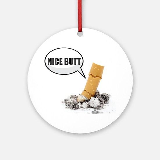 Cute Cigarettes Round Ornament