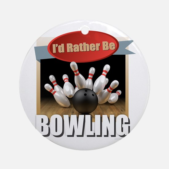 Cool Bowling Round Ornament