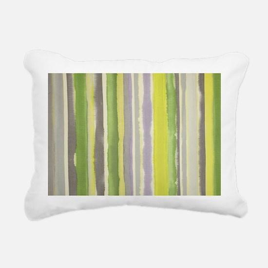 Soft Greens and Gray Wat Rectangular Canvas Pillow