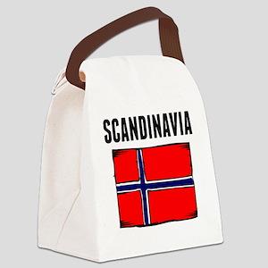 Scandinavia Flag Canvas Lunch Bag