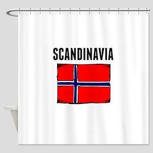 Scandinavia Flag Shower Curtain