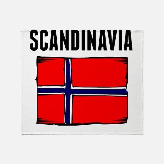 Scandinavia Flag Throw Blanket