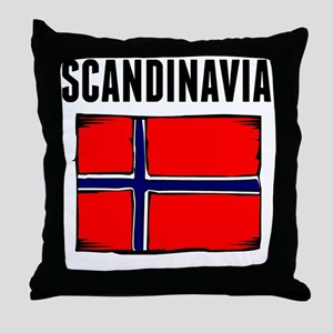 Scandinavia Flag Throw Pillow