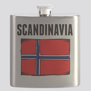 Scandinavia Flag Flask