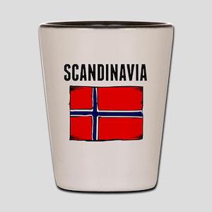 Scandinavia Flag Shot Glass